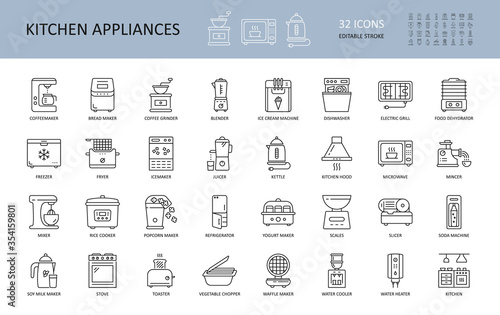 Fotografia Vector kitchen appliances icons