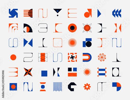 Collection Of Abstract Vector Geometric Shapes Tapéta, Fotótapéta