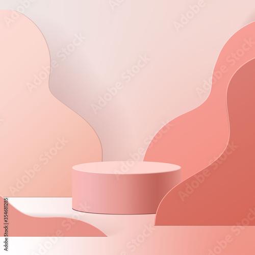 Carta da parati minimal scene with geometrical forms