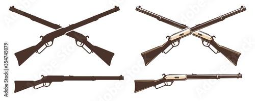 Obraz na plátně Winchester rifle retro icon