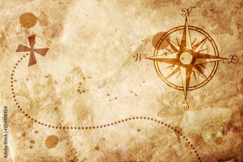 Obraz na plátně old map