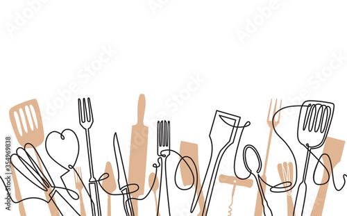 Cooking Seamless Pattern Tapéta, Fotótapéta