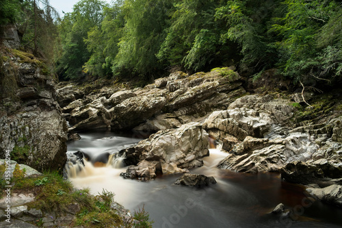 Randolphs Leap in the River Findhorn Valley Scotland Fototapet