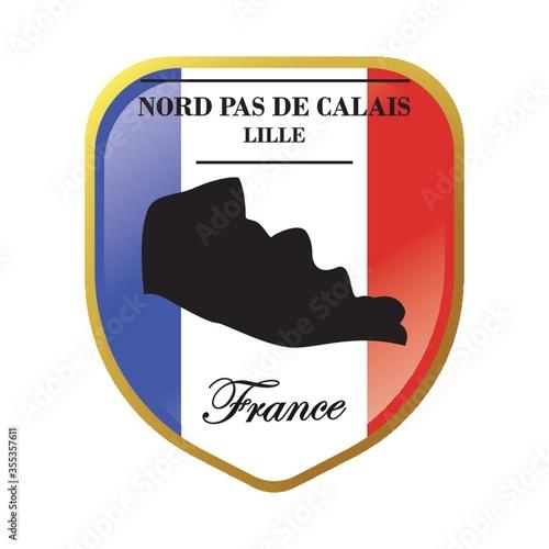 Obraz na plátně Nord pas de calais map label