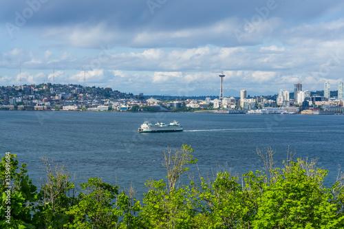 Canvastavla Ferry And Urban Skyline