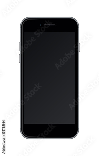 Realistic smartphone isolated on white background. #355785864