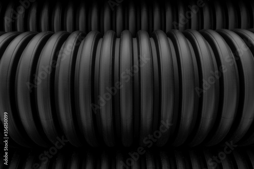Canvas Print plastic pipes industrial corrugated tubes background