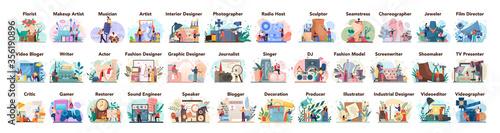 Fotografering Artistic occupation set