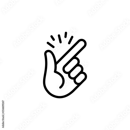 Hand gesture is easy, snap your fingers. Vector isolated icon. Fototapete