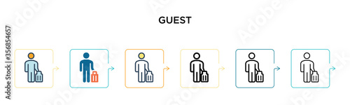 Canvas-taulu Guest vector icon in 6 different modern styles