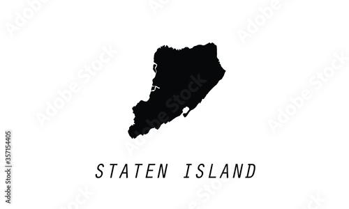 Obraz na plátne Staten Island New York CIty borough city shape vector illustration