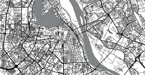 Obraz na plátně Urban vector city map of Hanoi, Vietnam