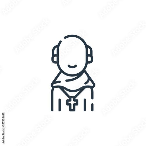 Photo friar vector icon