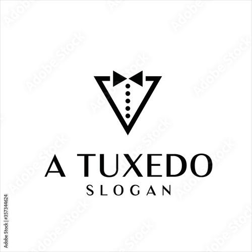 Photo tuxedo vector logo design graphic abstract