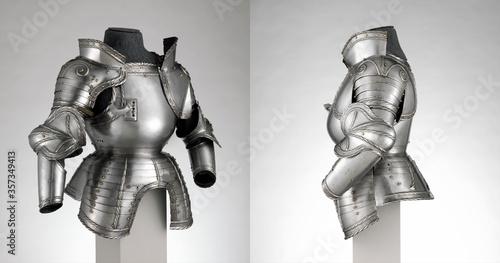 Obraz na płótnie German Portions of a Field Armor  from different angles views, Medieval knight A