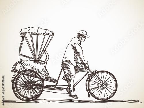 Fotografie, Obraz cycle rickshaw