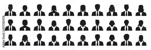 Carta da parati Business person silhouette set
