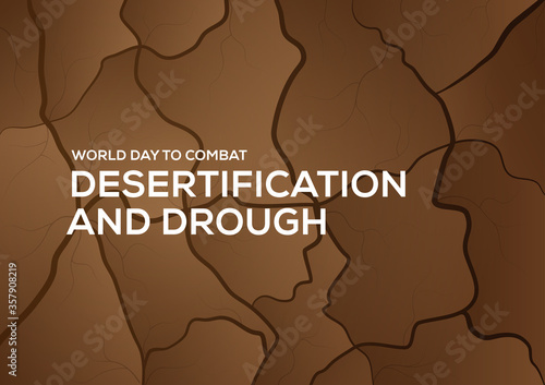 Fotografija world day to combat desertification and drought background