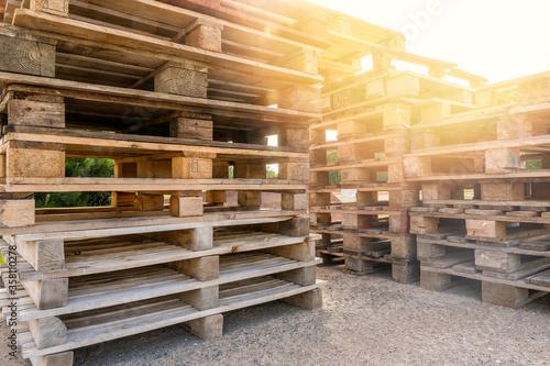 Carta da parati Huge piles of different type of pallet