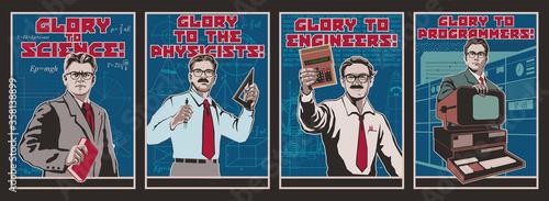 Photo Glory to Science Propaganda Posters
