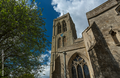Obraz na płótnie Gedney, Lincolnshire, UK, April 2014, view of Saint Mary Magdalene Church