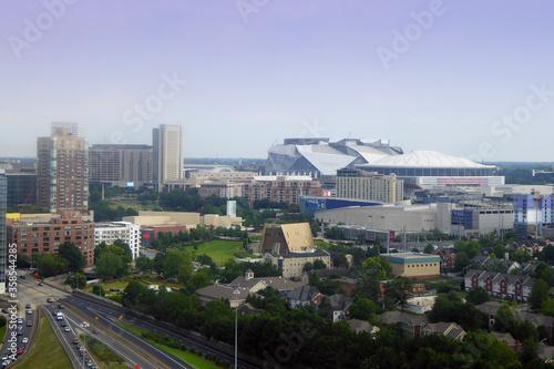 фотография Mercedes-Benz Stadium in Atlanta Georgia is home to the Atlanta Falcons NFL team
