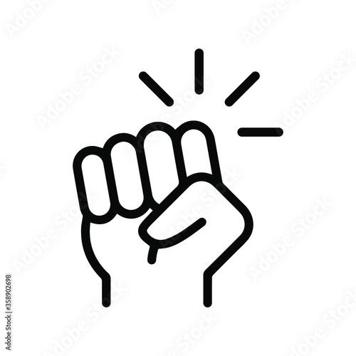 Foto Hand knocking on door icon