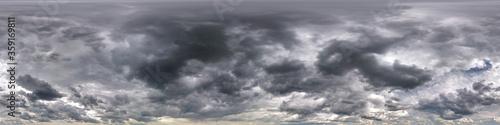 Valokuvatapetti dark sky with beautiful black clouds before storm