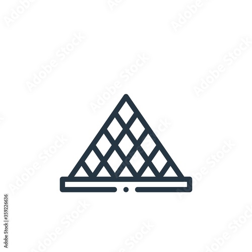Canvas Print louvre vector icon isolated on white background
