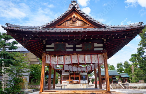 Photo Kagura-den building of the Shikichi-jinja Shrine (Wara-tenjin)