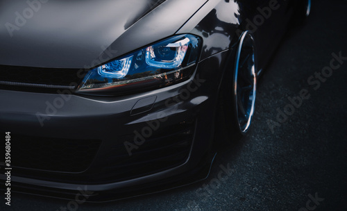 Photographie modern sports car tuning close up Wallpaper