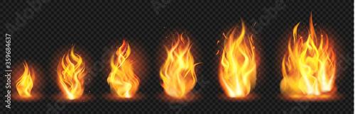 Fotografia Realistic flame concept