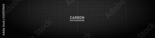 Dark hexagon carbon fiber texture Fototapete
