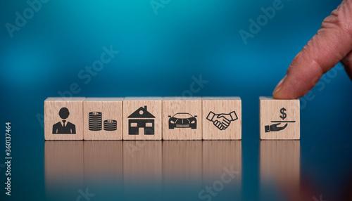 Fotografía Concept of loan