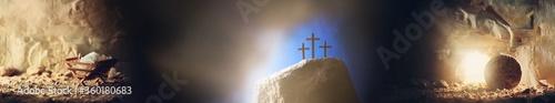 Fotografía Christian Christmas and Easter concept