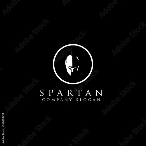 Fotografie, Obraz Greek Sparta / Spartan Helmet Warrior logo design