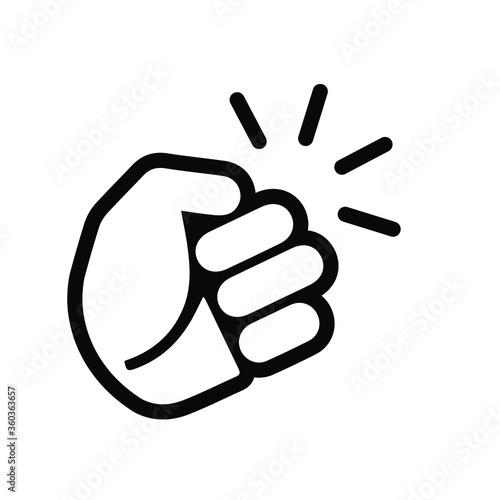 Hand knocking on door icon. Vector illustration. EPS 10. Fototapete