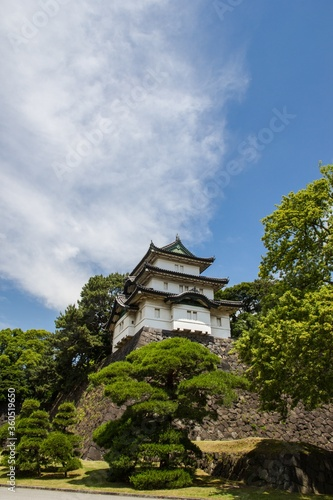 Fotografie, Obraz Mesmerizing shot of Tokyo Imperial Palace on a bright day in Japan