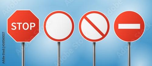 Fotografie, Obraz Stop road sign