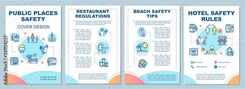 Fotografia Public places safety rules brochure template