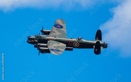 RAF Coningsby, Lincolnshire, UK, September 2017, Avro Lancaster Bomber PA474 of Fototapeta