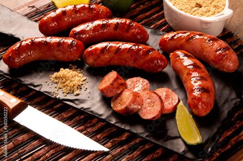 Grilled sausage Fototapeta