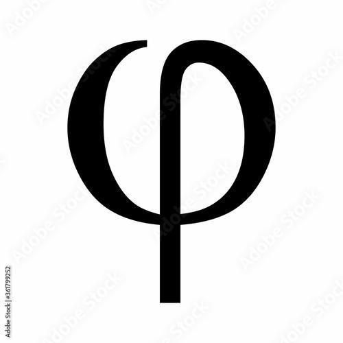 Fotografie, Obraz Phi greek letter icon