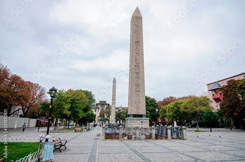 Fotografie, Obraz Theodosius obelisk is an ancient landmark in Istanbul.