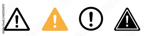 Fototapeta Caution warning signs