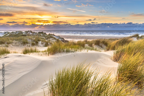 Fotografia View from dune top over North Sea