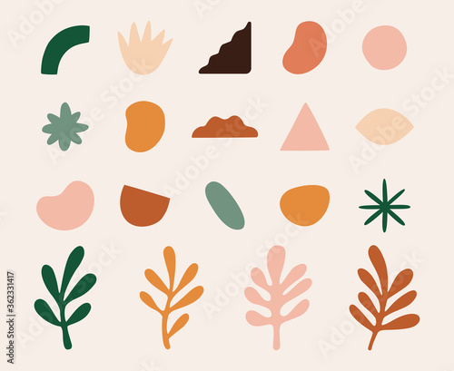 Photo Vector set of design elements and shapes for abstract backgrounds, geometrical e
