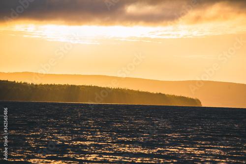 Canvastavla Sunset behind the Mountains on Cape Breton Island