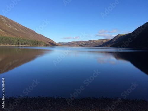 Slika na platnu Scenic View Of Lake Against Blue Sky