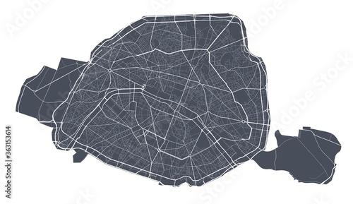 Photo Paris map